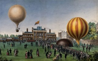 Balloon centenary at the Honorable Artillery Company, 1884 / Wellcome Images