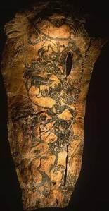 Preserved tattooed skin