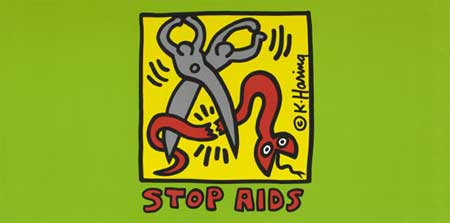 Keith Haring, Stop AIDS. Wellcome Images / Wellcome Library