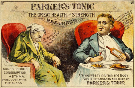 Trade card for Parker's Tonic. Wellcome Images