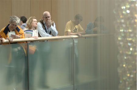 Visitors examine Bleigiessen at a previous Open House