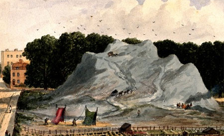 Watercolour painting of the Great Dust Heap