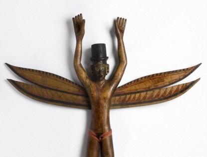 Nicobarese kareau figure.  Wellcome Images.