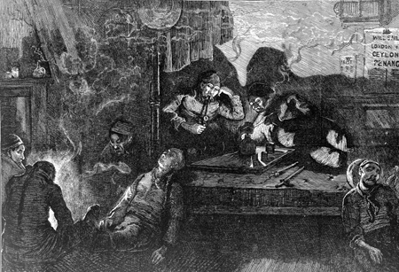 An Opium-den in the East End of London. Wellcome Images
