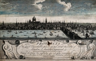 Panorama of the Thames, 1730. Wellcome Images
