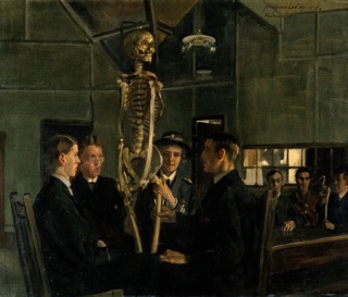 J.H. Lobley, Anatomy Lessons at St. Dunstan's, 1917. Wellcome Images