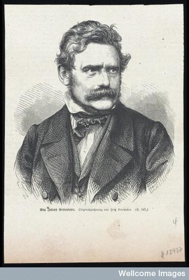 Josef Kriehuber, Max Joseph von Pettenkofer. Wellcome Images