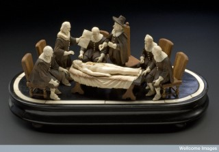 Wood and ivory figure group representing an anatomical demonstration. Science Museum, London / Wellcome Images