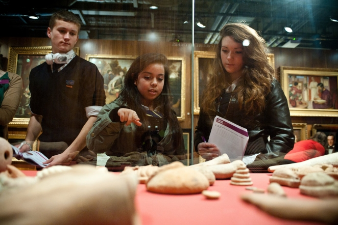 A group of schoolchildren in our Medicine Man gallery.