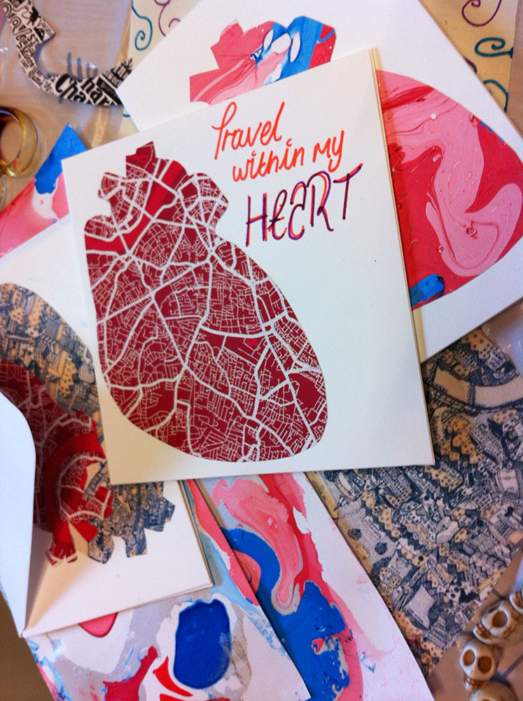 Some of the Valentine's Day cards produced by the group. (image credit ©Elaine Duigenan)