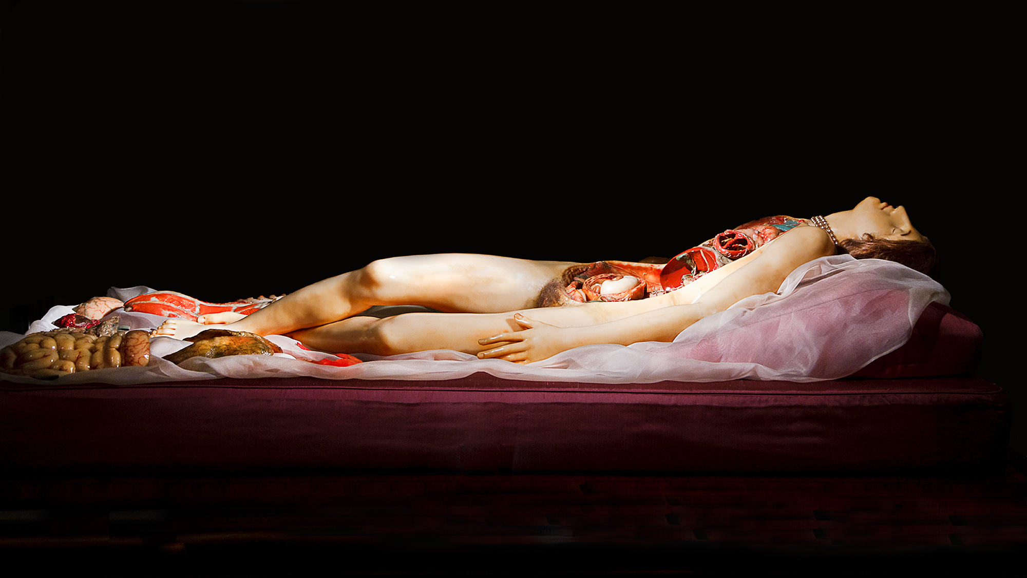 """The """"Venerina"""" or """"Little Venus"""" anatomical model by Clemente Susini, 1782, as seen at the Palazzo Poggi in Bologna, Italy. Photo by Joanna Ebenstein, Morbid Anatomy."""
