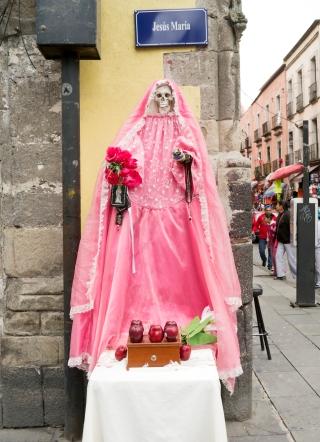 Santa Muerte Shrine, Mexico City. Photo by Joanna Ebenstein, Morbid Anatomy
