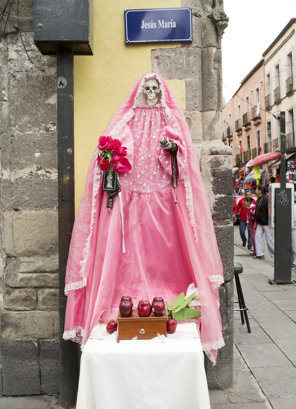 Santa Muerte Shrine, Mexico City. Photo by Joanna Ebenstein, Morbid Anatomy