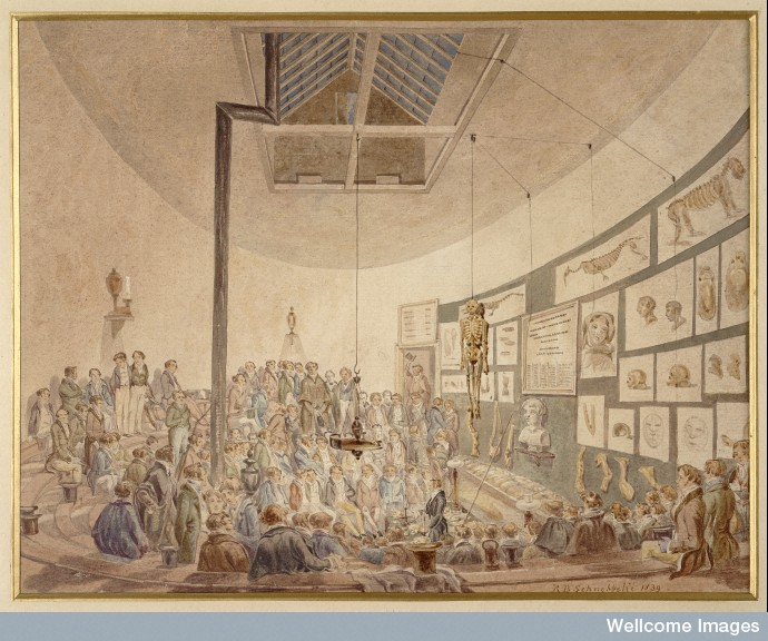 A lecture at the Hunteriana Anatomy School.