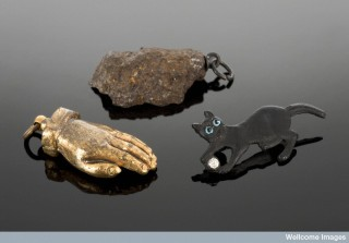 This black cat amulet was carried for protection and good luck by a British soldier during the First World War.