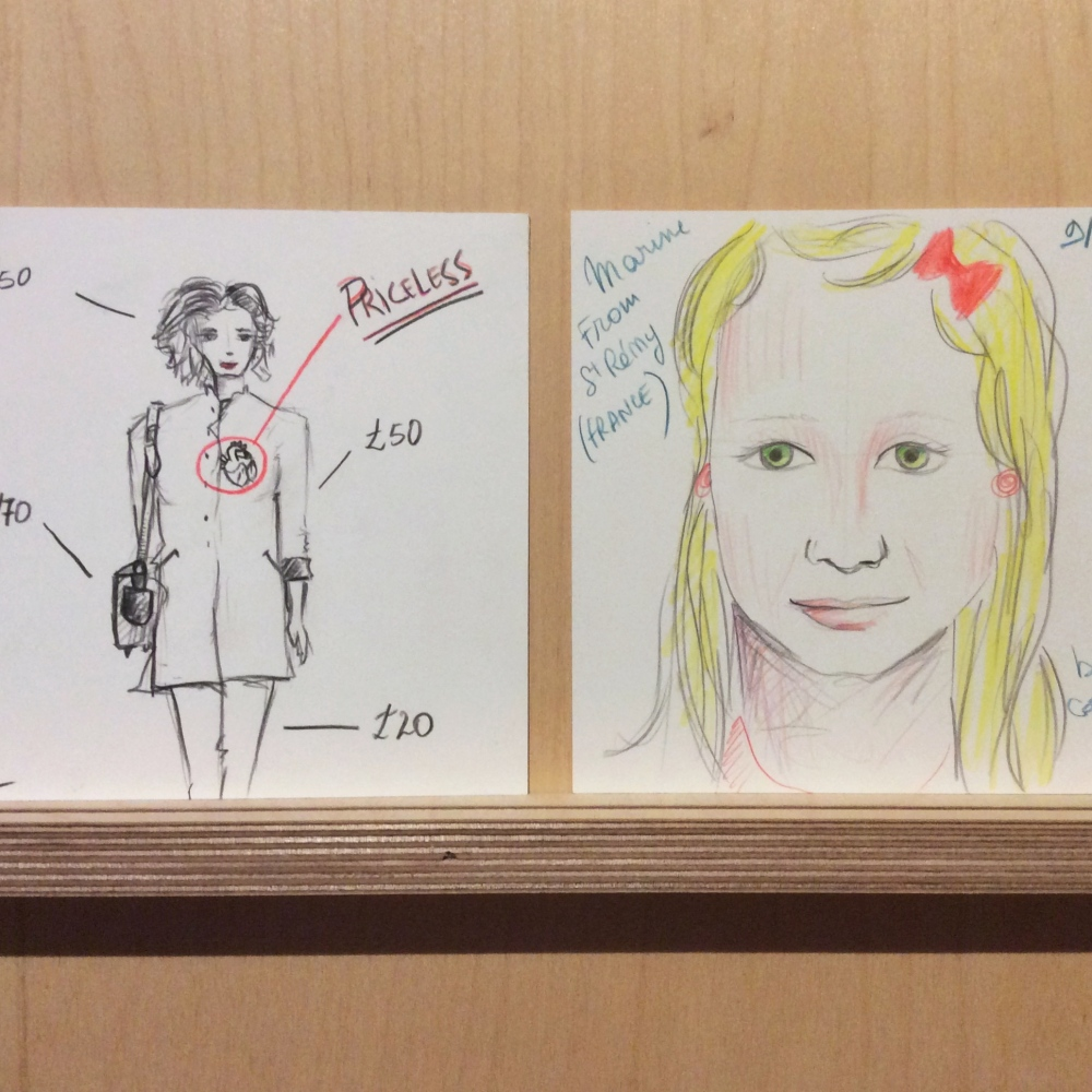 K is for Keeping up appearances. We've asked visitors to draw how they present themselves to the world.