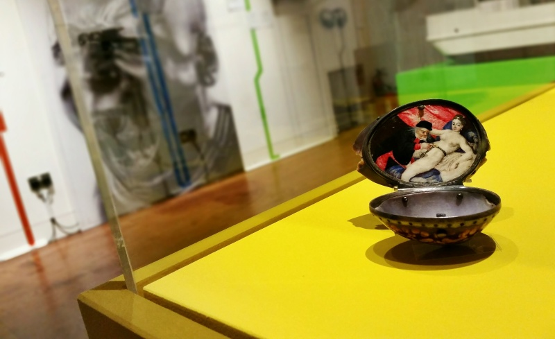 The cowrie shell snuff box in the A to Z of the Human Condition exhibition.