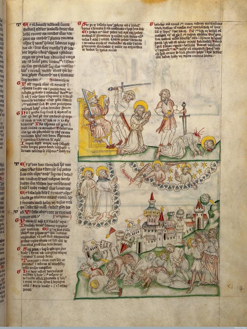 The Apocalypse: antichrist has Enoch and Elijah beheaded.