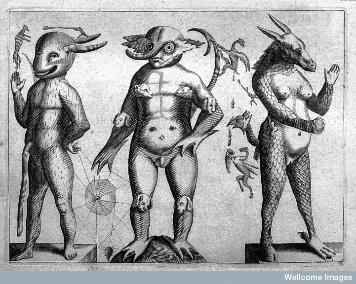 Three monsters, 1668.