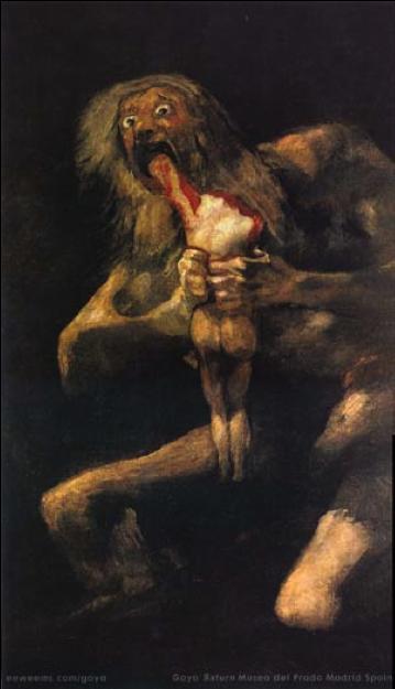 Cronus, Goya. © Museo del Prado, Madrid