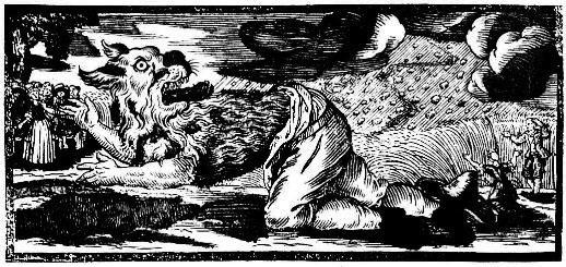 Werewolf, German woodcut from 1722.