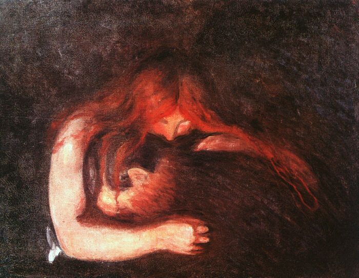 The Vampire, 1893. Edvard Munch. Courtesy of Munch Museum at Oslo.