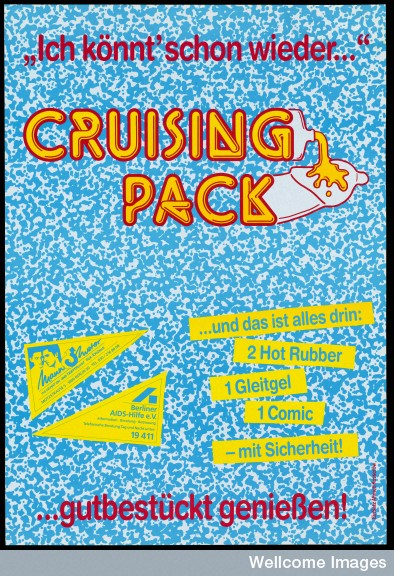 Safe-sex cruising pack issued to gay men in Berlin.