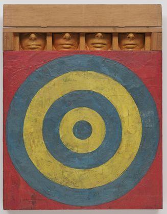 Jasper Johns' Target with Four Faces, 1955. (© 2015 Jasper Johns / Licensed by VAGA, New York, NY)