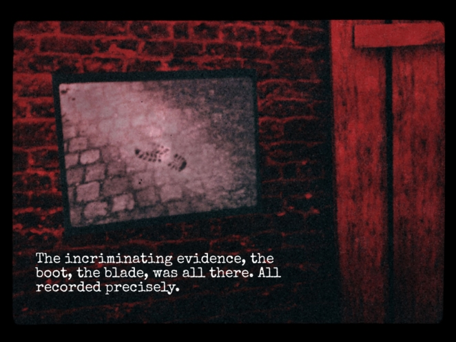 Screenshot from the game, Criminel.