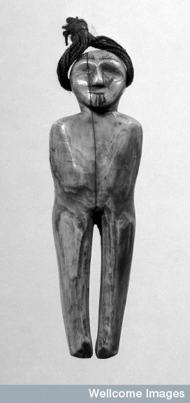 Doll, spirit figure, in Ivory, Eskimo.