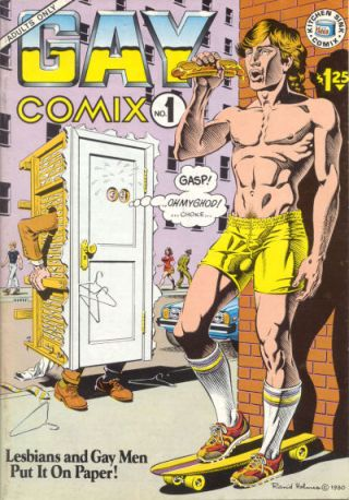 """""""GayComix01"""" by Source. http://en.wikipedia.org/wiki/File:GayComix01.jpg#/media/File:GayComix01.jpg"""