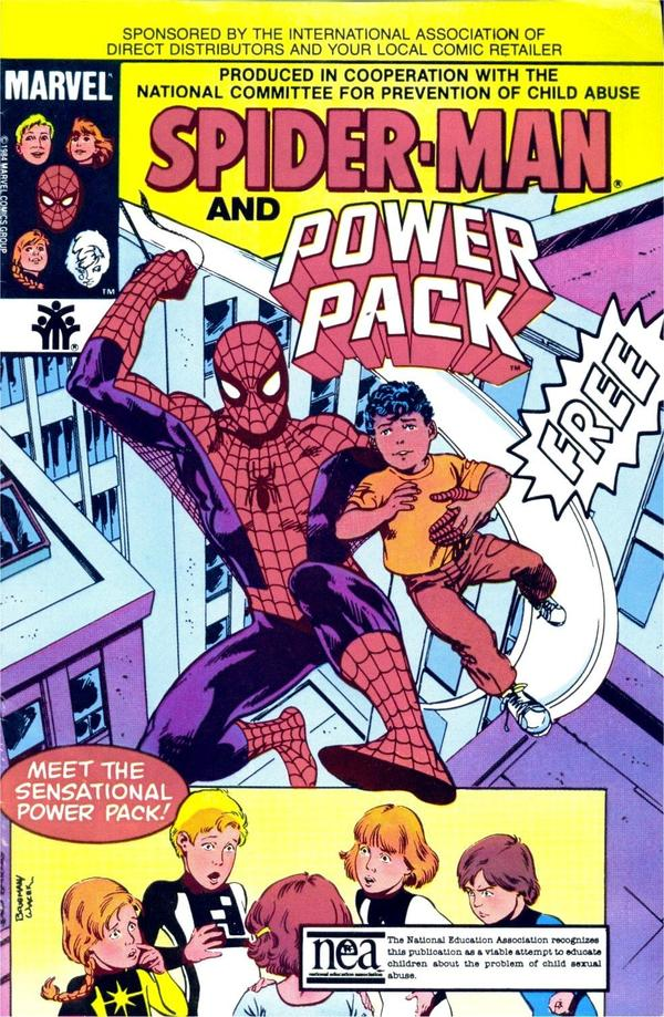 Spider-Man and Power Pack cover.