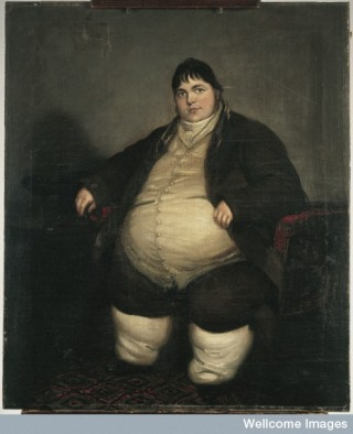 Daniel Lambert, weighing almost forty stone.