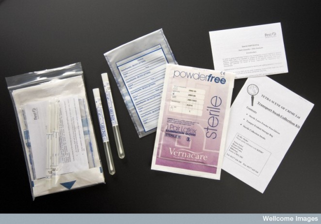 DNA swab collection kits.