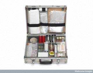 Scene of crime officer's equipment case, 1972. On display in our Forensics exhibition, on loan from the Metropolitan Police Heritage Centre, London. (Image: Metropolitan Police |Heritage Centre)