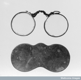 Eye-glasses and their case. Or, in Polari,