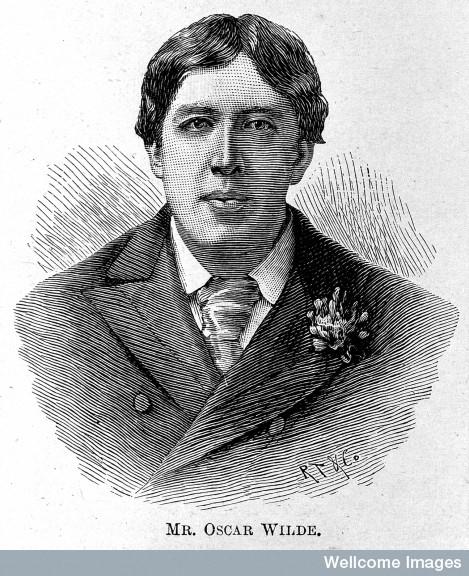 Portrait of Oscar Wilde.