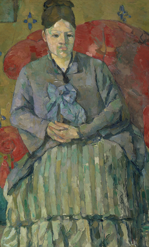 """Paul Cézanne, """"Madame Cézanne (Hortense Fiquet, 1850–1922) in a Red Dress"""", ca. 1888-90. Oil on canvas. Courtesy of the Metropolitan Museum of Art, New York."""