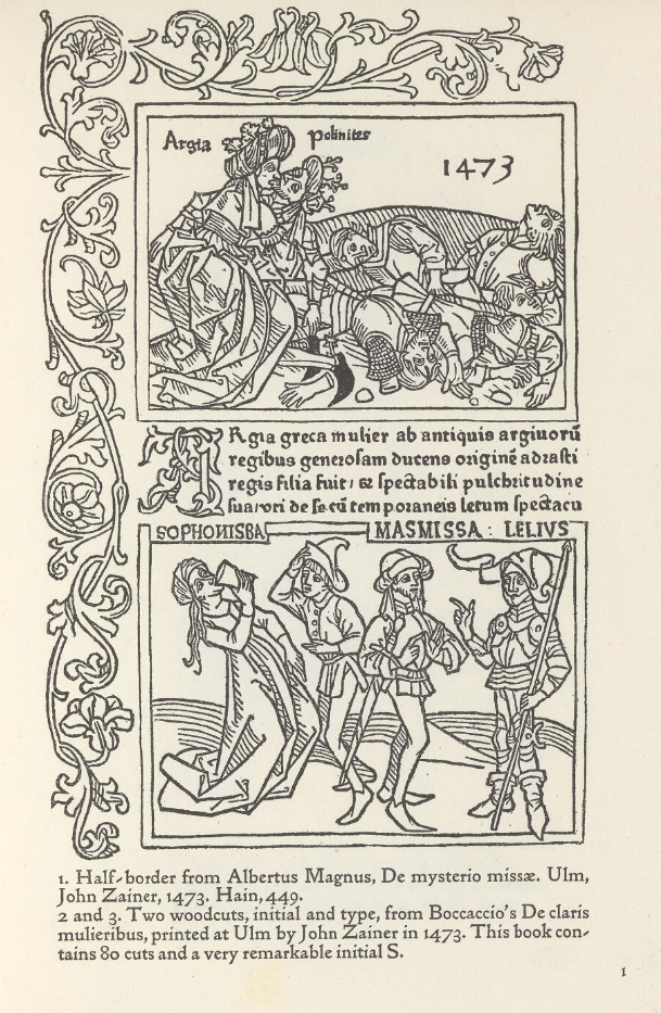 Example of a collection of fifteenth-century woodcuts from Ulm and Augsburg, selected by William Morris and later acquired by Henry Wellcome (Wellcome Library). Click on the image to see the whole volume.