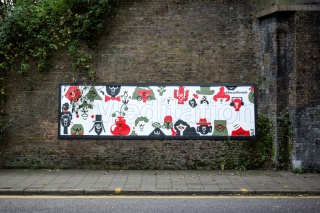 8 billboards posted around North and East London to promote the new Tibet exhibition at Wellcome Collection. The billboards were created by local artists using different words as themes. London 2015