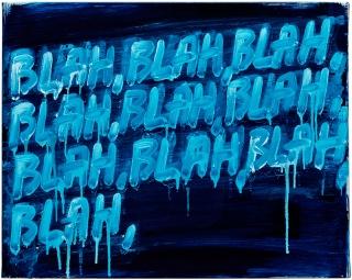 Mel Bochner, Blah, Blah, Blah, 2008. Collection David and Evelyn Lasry. (© Mel Bochner)