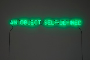 Joseph Kosuth, An object self-defined, 1965. (Courtesy of the artist.)