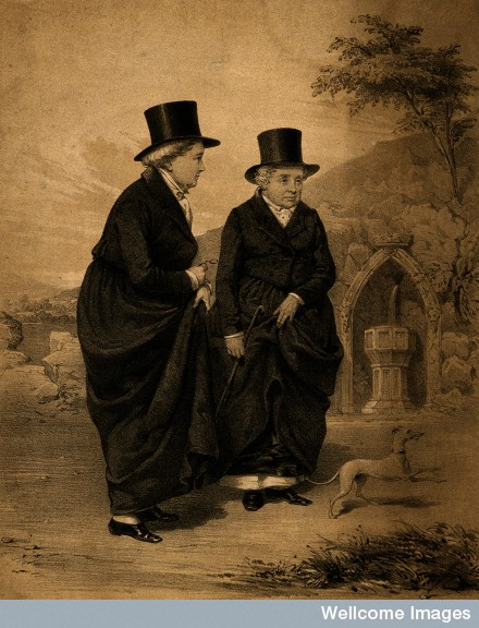 V0007359 Sarah Ponsonby (left) and Lady Eleanor Butler, known as the