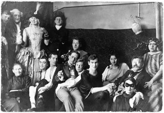 Magnus Hirschfeld and friends (Hirschfeld is the moustached figure at the far left).