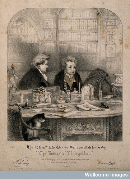 V0007358 Sarah Ponsonby (left)and Lady Eleanor Butler, recluses known