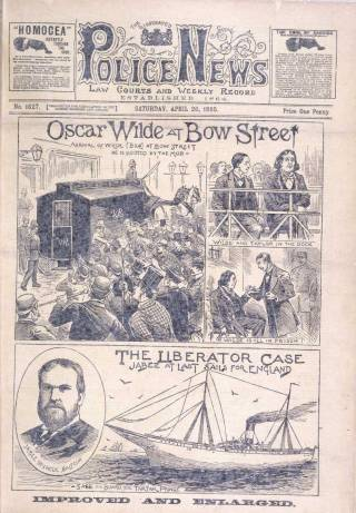 Oscar Wilde's infamous trial was worldwide news. (Image courtesy of the British Library)