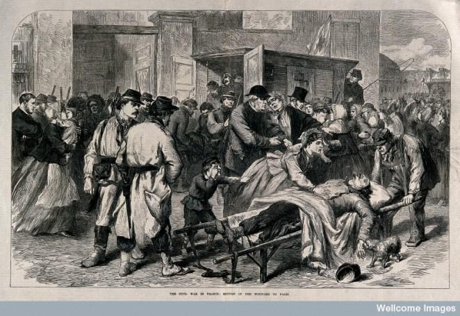 V0015461 Franco-Prussian War: Civil unrest in Paris. Wood engraving a