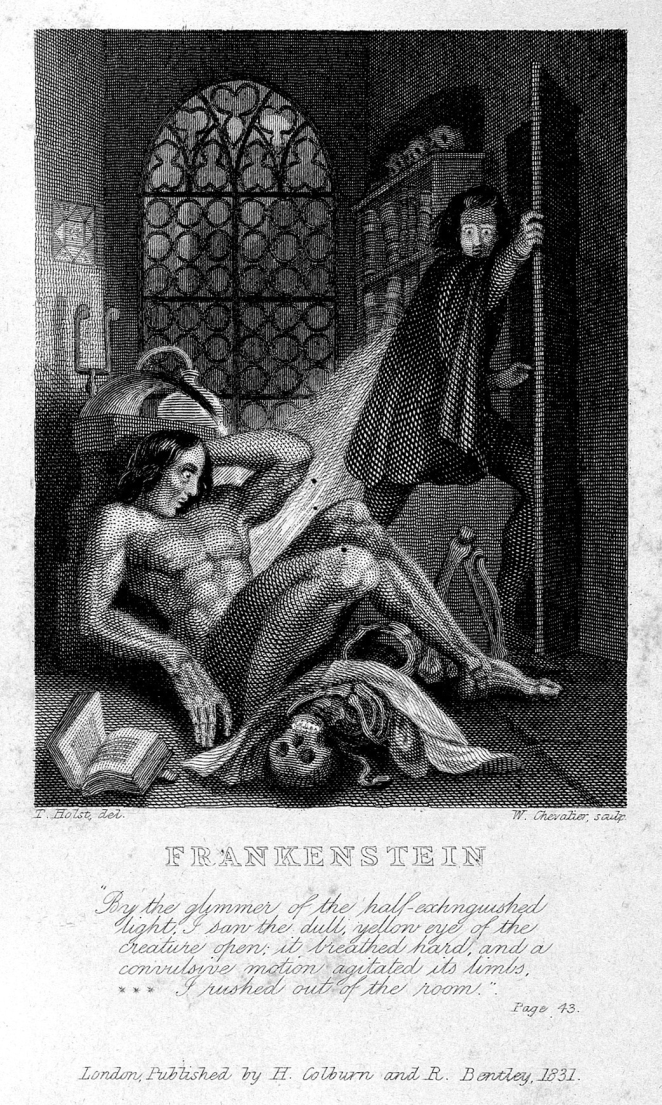 Though not explicitly referenced in the novel, Galvanic experiments inspired in Mary Shelley's imagination the possibilities of reanimating a corpse.