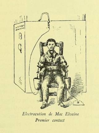 This execution technique, devised by Edison, caused the convict to lose consciousness before the fatal shock was administered in another chair.