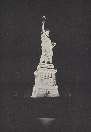 In 1886 the Statue of Liberty was illuminated, further enhancing its symbolic values of progress and enlightenment.